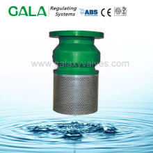 Din ductile iron flanged end water pump foot valve with strainer