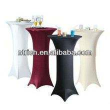 Gorgeous spandex casino table cloth, lycra table cover for club