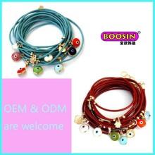 Moda barato liga de zinco charme pulseira corda colorida