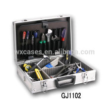 Ящик для инструментов портативный алюминия с раскладными инструмент поддон и регулируемой отсеки внутри