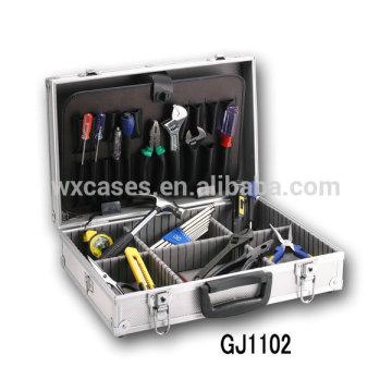 Tragbare Aluminium-Tool-Box mit Fold-Down-Tool-Palette und verstellbaren Innenfächer