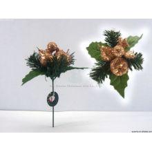 17cm Wreath Glitter christmas decorative pick