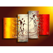 Peinture à l'huile décorative à 4 panneaux à l'huile