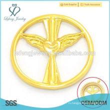 Оптовые 22 мм золотые сплавы dubai ювелирные изделия угол крыло плавающие прелести дамы медальон окна пластин для продажи