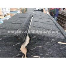 tuile de toiture en métal enduite de pierre