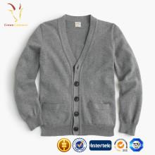 Suéter de la rebeca del cachemira de los niños, cardigans hechos punto bebé