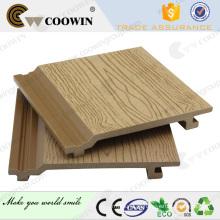 Placa de painel de parede decorativa composta plástica de madeira