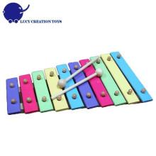 Xilofone de madeira da criança de 10 tons da cor