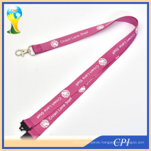Pink Custom Printed Neck Lanyards No Minimum Order