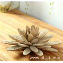 handmade wooden crafts lotus flower