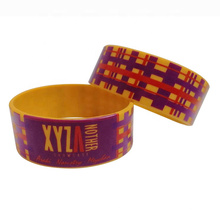 Wholesale Cheap Custom Silicone Elastic Printing Big Wristband