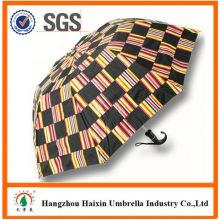 Günstigen Preisen!! Fabrik liefern 2 faltbarer Regenschirm mit krummen behandeln