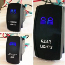 Double LED Color Lights ABS Car Marine Rocker Switch