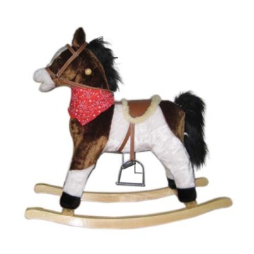 One of Hottest for Baby Plush Rocking Horse Baby rocking horse LXRH-013 supply to Wallis And Futuna Islands Supplier