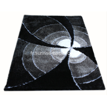 Polyester soie Blading Shaggy couleur Design tapis