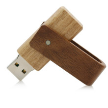 New swivel style OEM wood usb flash drive