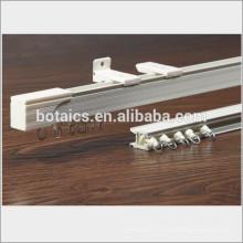 Vitres coulissantes profilées en aluminium poteau rideau courbé courbé, poteau plafonné pour rideau de l'hôpital