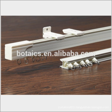 aluminum profile sliding windows curved bendable curtain pole,ceiling mounted pole for hospital curtain