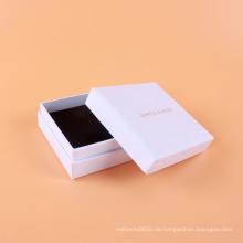 Preiswertes kundenspezifisches Logo druckte weißes Pappgeschenk-Schmuckkästchen