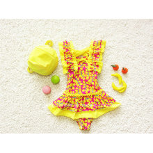 Cute Little Kids Girls Ruffled Swimwear