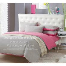 Textiles de maison de luxe de percale de coton de 200tc / ensembles de literie