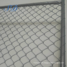 Clôture de fil double et barrière temporaire de maillon de chaîne