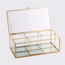 Grid Jewelry Tray Showcase Display Almacenamiento Glass Geometric Terrarium