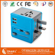 EU,US,AU,UK travel adapter with dual USB Charger With Micro USB adapter Cable For Smart phone