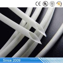Tube rond d'isolation électronique de gaine enduite de fibre de verre acrylique de haute qualité