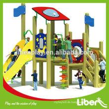 Kids Wooden Commercial Outdoor Spielplatz Ausrüstung für Vorschule Gebraucht LE.MZ.018