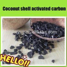 Coque de noix de coco granulaire usine charbon actif / charbon de bois