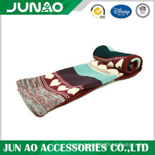 Knitted long scarf with pattern