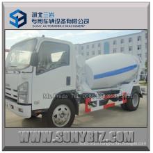 Isuzu 700p 5m3 Small Self Loading Concrete Mixer Truck