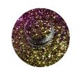 Chameleon Glitter para esmalte de uñas resistente a los solventes cambia el color del brillo