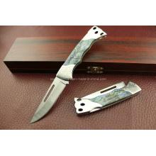 Cuchillo plegable del acero inoxidable 420 (SE-G291)