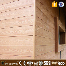 Resistencia atmosférica casa prefabricada anticracking WPC revestimiento Panel exterior WPC