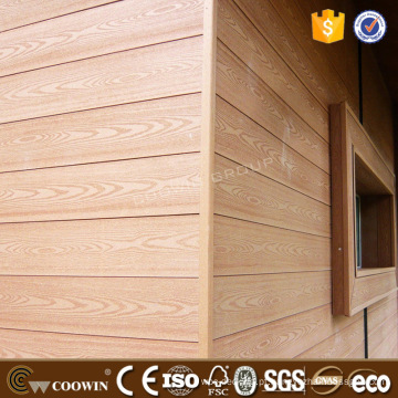 Casa pré-fabricada da resistência do tempo anticracking Revestimento de WPC Painel de tapume exterior de WPC