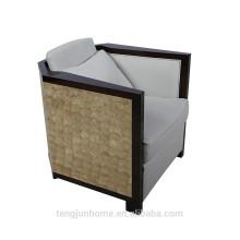 CANOSA 2016 capiz shell embutidos sofá de madeira mobiliário sala de estar