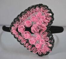 MJ-D-76 In 2012 the most popular satin flowers hair hoop,cute hairbands