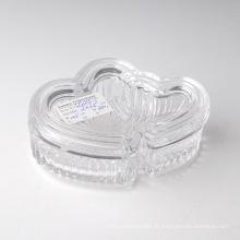 Bonbonnière en verre transparent avec capuchon