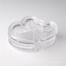 Оптовая прозрачное стекло конфетница с крышкой