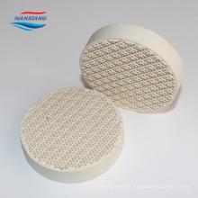 plaque en céramique de nid d'abeilles infrarouge comme médias d'échange de chaleur
