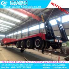 4-Achser ausziehbaren Anhänger niedrige Pritsche LKW Auflieger