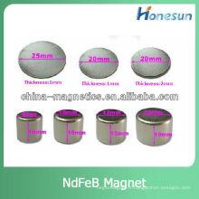disque magnétique forte/ronde aimant en néodyme