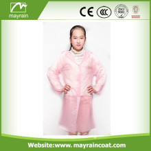 Lovely Pink PE Raincoat for Girls
