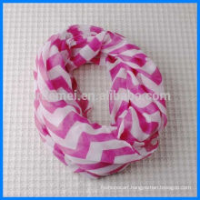Fashion printed polyester loop scarf