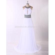 Jewel A-line Long Prom Dress 2016 Real Photos Plus Size Formal Evening Dress Crystals Beading Vestido De Festa Longo