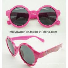 Neue Art- und Weiseplastik kreisförmige Form scherzt Sonnenbrille (CJ001)