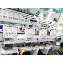 Preço automático da máquina do bordado do computador de 4 cabeças para o vestuário / tampão, chapéu / plano