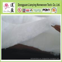 Soft Washable Polyester Wadding / Padding Uso para prendas de vestir, edredones
